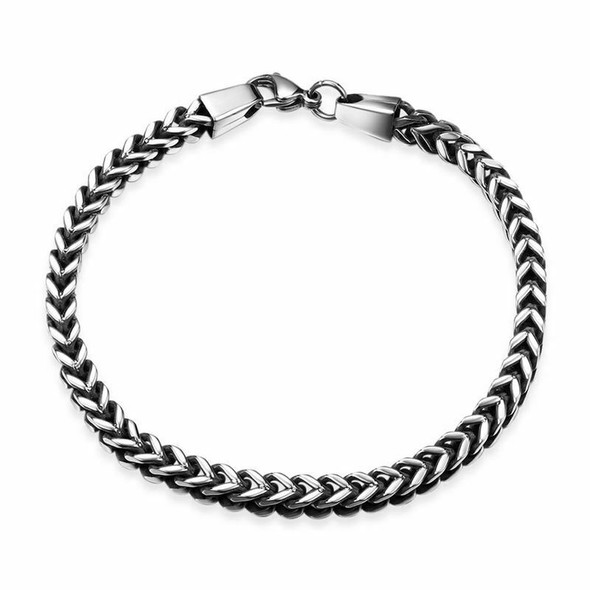 Mens Bracelets 5mm Stainless Steel Wristband Hand Chain Punk Jewelry Gift D5E7
