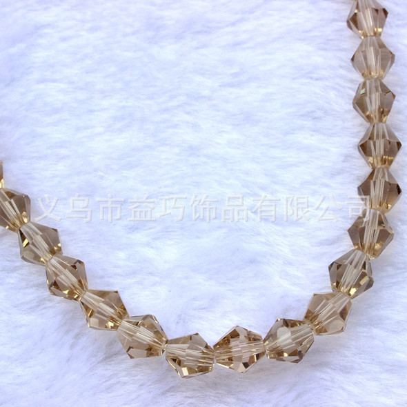 DIY 4mm 1000Pcs Faceted bicone Crystal Glass Beads for Bracelets with Conta I7D9