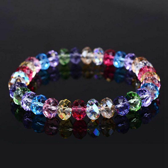 300 Pcs Glass Beads, 8mm 10 Color Faceted Beads Crystal Beads for Jewelry M L1I1