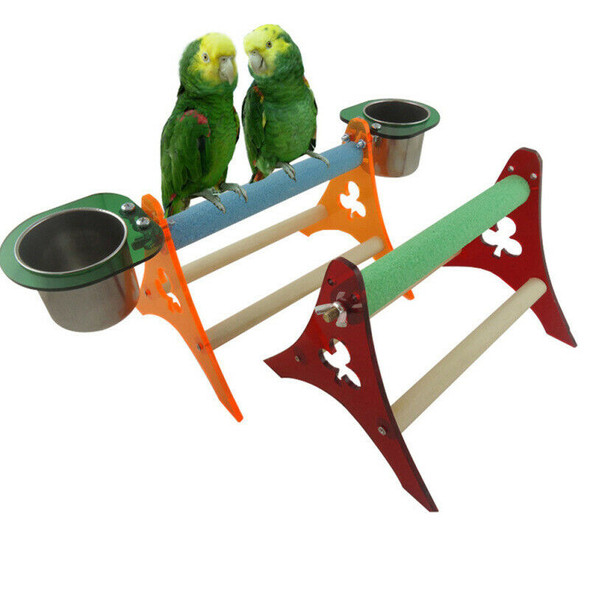 Large Bird Toys Chew Parrot Grinding Colored Emery Tripod Stand Parakeet HAS