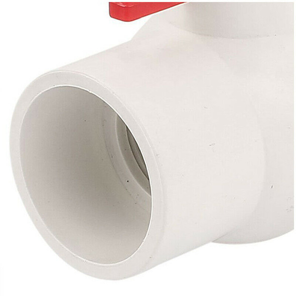 50MM/2 inch Slip Ends Water Control PVC Ball Valve White Red S4G2