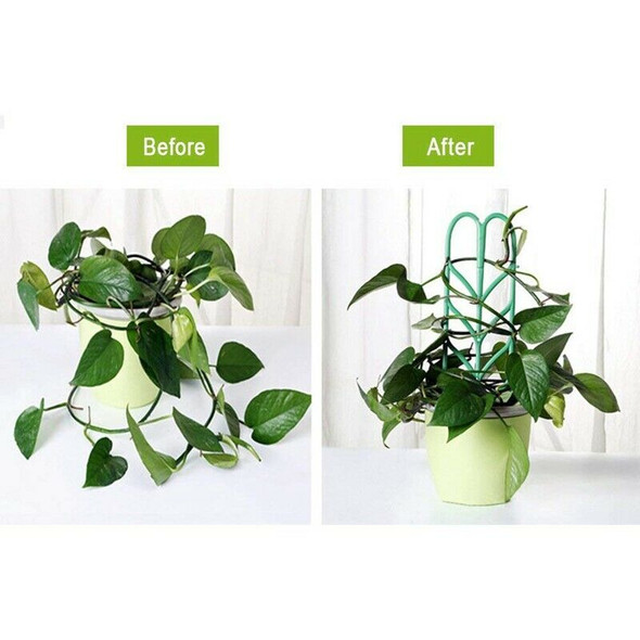 Garden Trellis For Climbing Plants, Leaf Shape Potted Plant Support Vines V A2N4