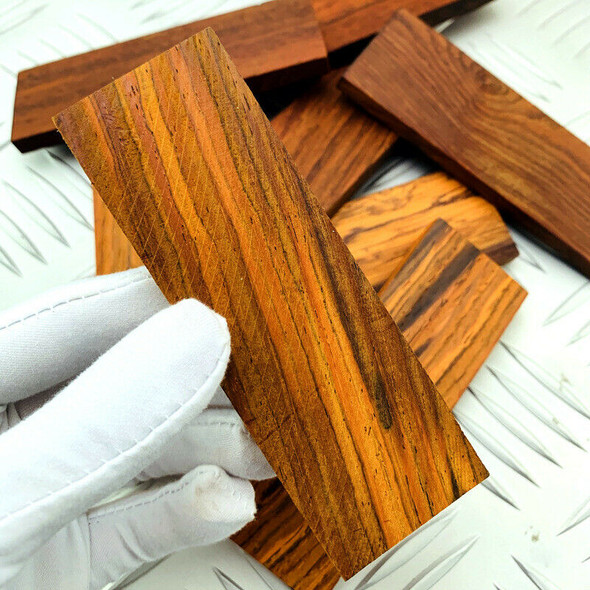 CocoBolo Wood Non-slip Patches 1 Pair Natural Handle Shank Scales for Tool DIY