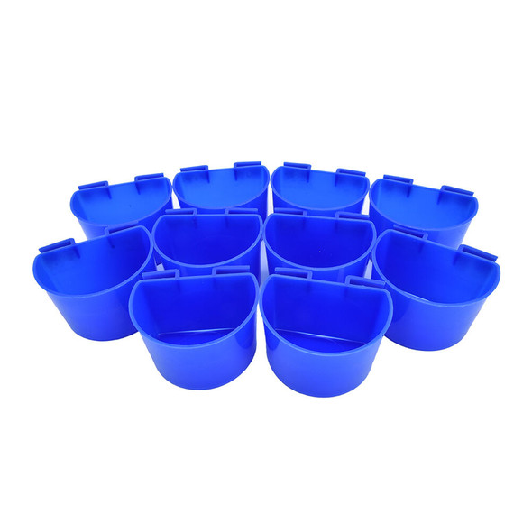10 pcs Cup Hanging Water Feed Cage Cups Poultry   Rabbit Chicken SP