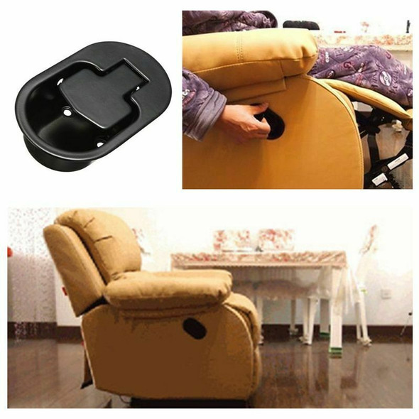 2X Durable Recliner Chair Sofa Couch Release Lever Replacement Metal Handle D3F8