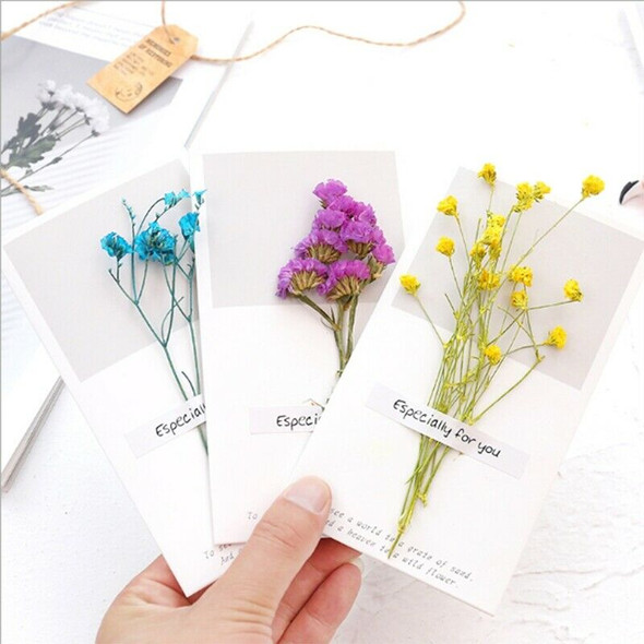 Dried Flowers Greeting Cards-Blank Note Cards Birthday Note Thank You Cards X1A2