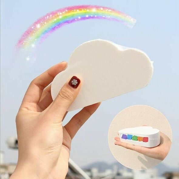 Colorful Rainbow Cloud Bath Bombs,Float On Water&Release Vivid Rainbow Colo W6F8