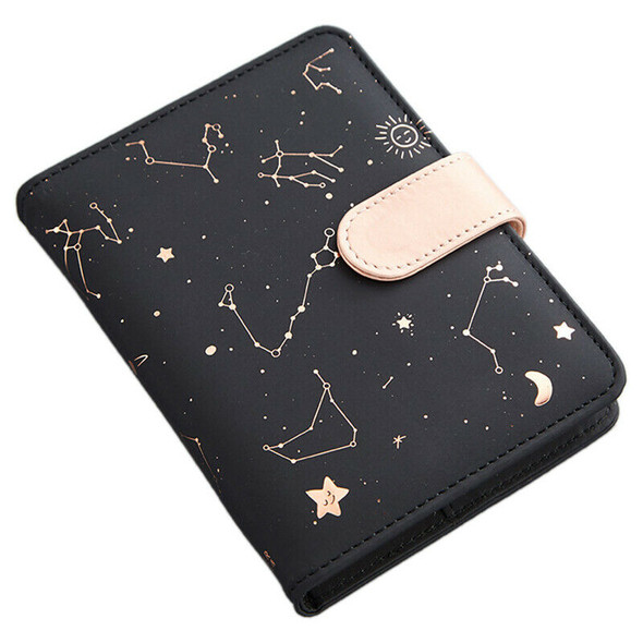 Cute Monthly Daily Planner Lined Study Notebook Journal Travel-Black J8P3