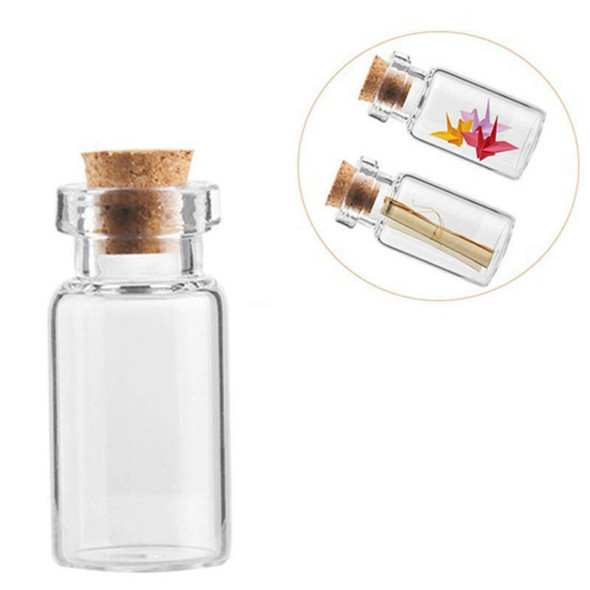 50x Vials Glass Bottle Message Bottles Transparent With Cork Stopper Tiny Small