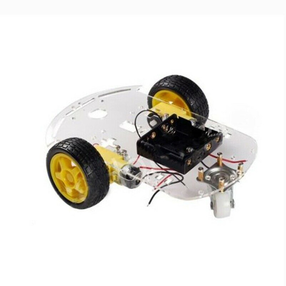 2WD Motor Smart Robot Car Chassis Kit Speed Encoder Battery Box for Arduino W4R2