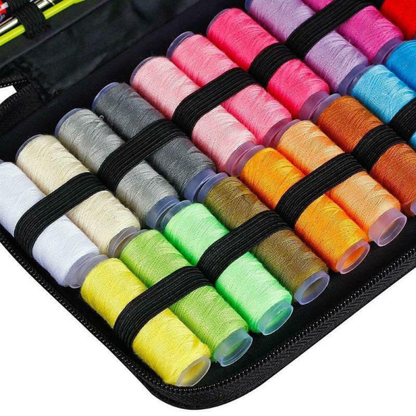 Sewing Box Cross Stitch Embroidery Sewing Thread Stitches Needles Tools CTS