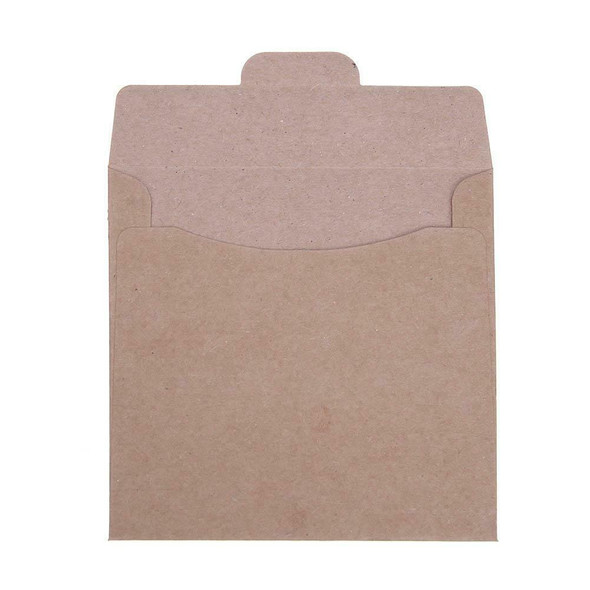 50pcs Kraft Paper CD DVD Envelope Sleeve Packing Bag 12.5x12.5cm #JT1
