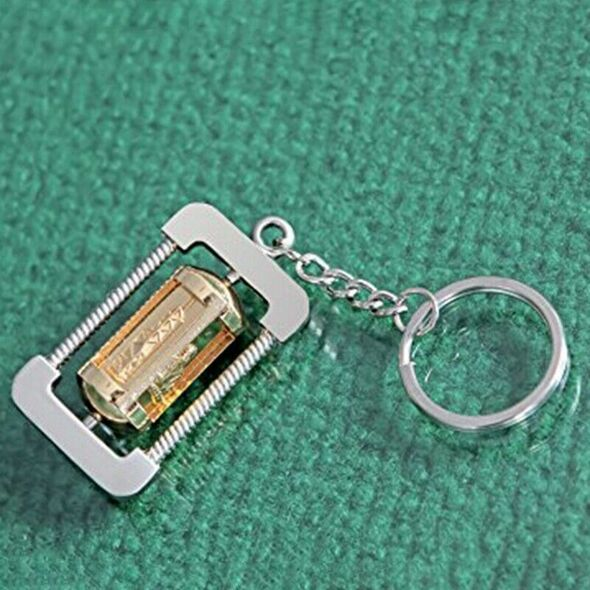 100Pcs Keychain Rings Jewelry With Chain And 100 Pcs Screw Eye Pins Bulk Fo L4C2