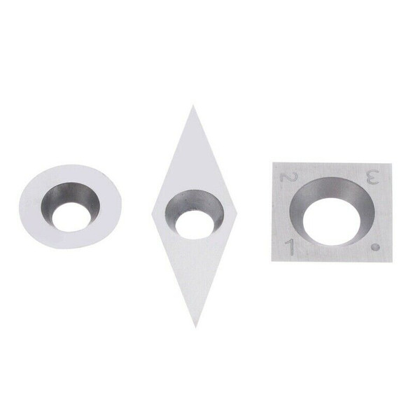 3Pcs Tungsten Carbide Inserts Cutter Set for Wood Turning Working Lathe Too I4J4