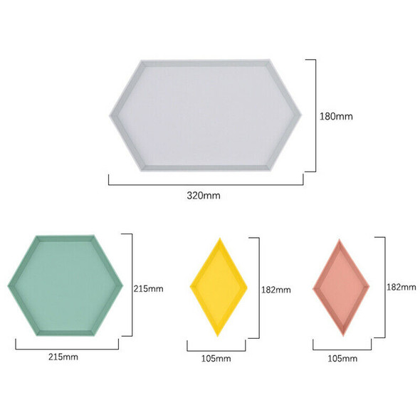 4Pcs Innovative Color Geometric Storage Tray Removable Fruit Plastic Combin N1Q4