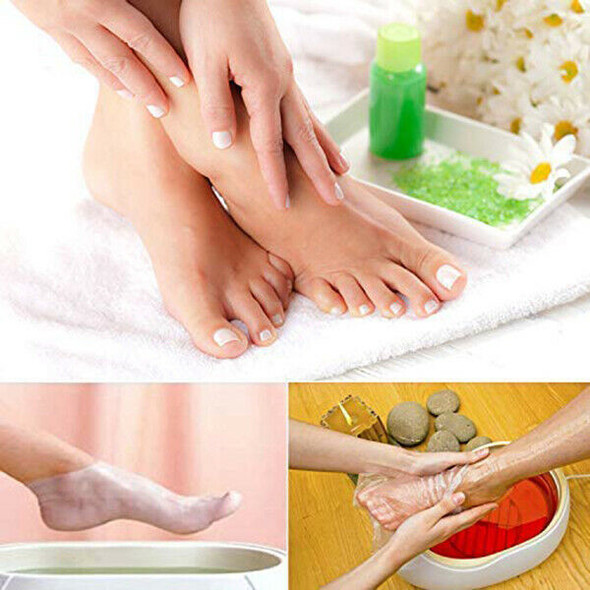 200Pcs Paraffin Wax Liners for Feet,Larger Thicker Thermal Therapy Plastic  I3C6