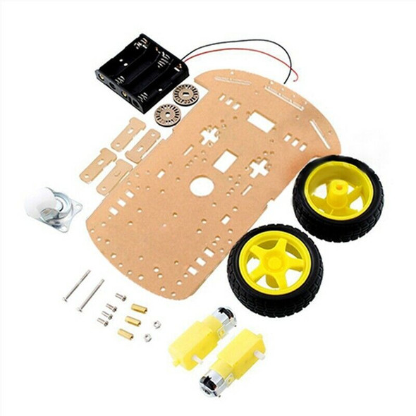 2WD Motor Smart Robot Car Chassis Kit Speed Encoder Battery Box for Arduino L9J1
