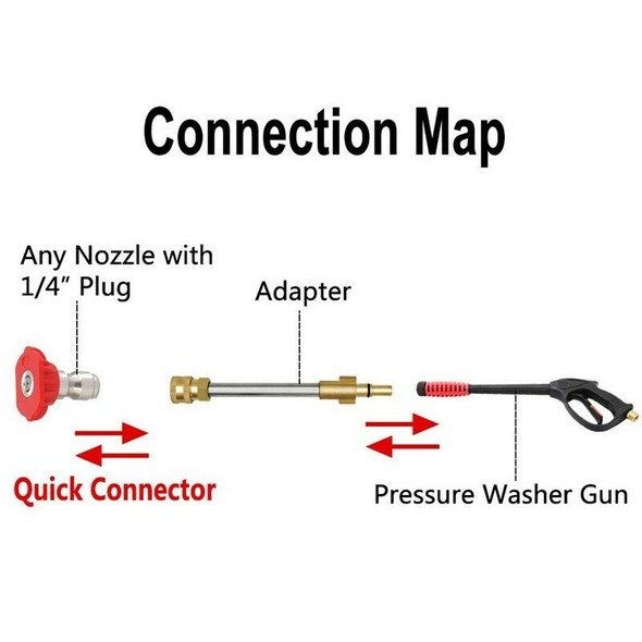 Pressure Washergun Adapter with 1/4inch Female Quick Connect Fitting, Fit M Q7V2