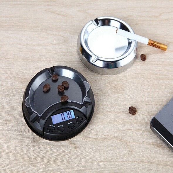 Ashtray Pocket Scale 0.01-200G Mini Compact Digital Lcd Weigh Electronic Me J5H3