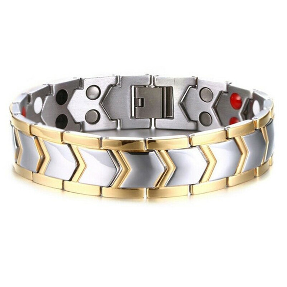 Healthy Magnetic Therapy Bio Bracelet Men Jewelry New Fashion Energy Magnet I9Q2