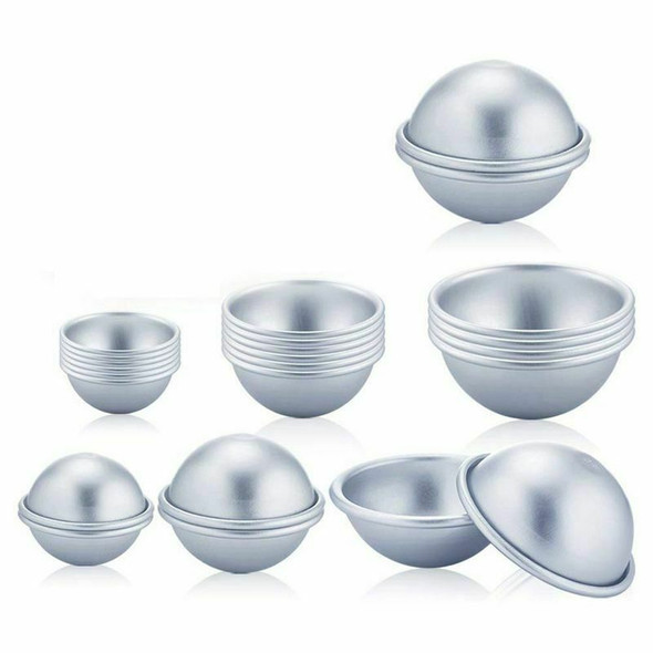 24 Pieces 3 Sizes DIY Metal Bath Bomb Mold 12 Set for Crafting Your Own Fiz D7F6
