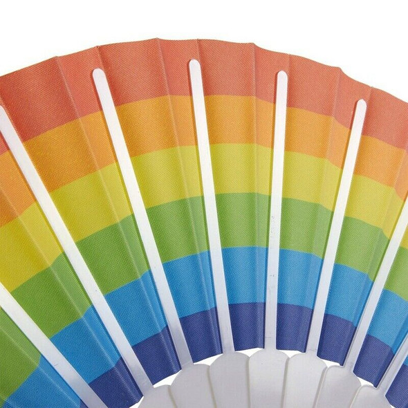 Rainbow Fans-Pack Of 6-Rainbow Party Supplies For Rainbow-Themed Parties An U3P9
