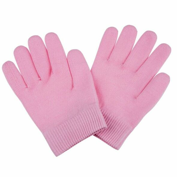 Beauty SPA Socks and Gloves Moisturizing Gel Therapy Skin Care - Pink Z6W7