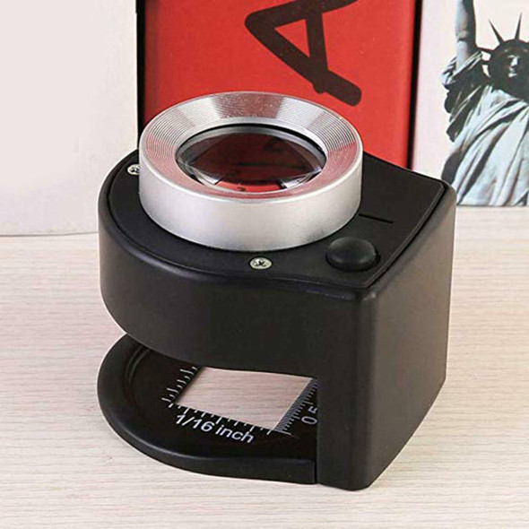 30X Linen Tester Loupe with LED and UV Light, Full Metal Map Magnifying gds KLI