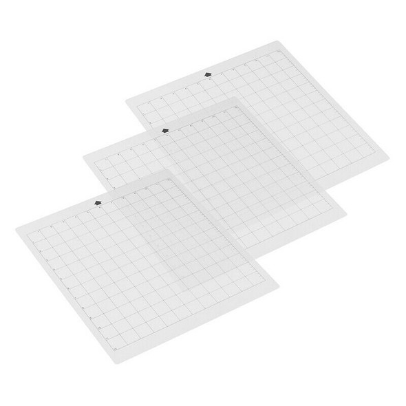 3Pcs Replacement Cutting Mat Transparent Adhesive Mat With Measuring Grid 8 U3S5