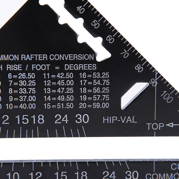 Triangle Angle Square Speed Rafter Protractor Miter Ruler Kit FT