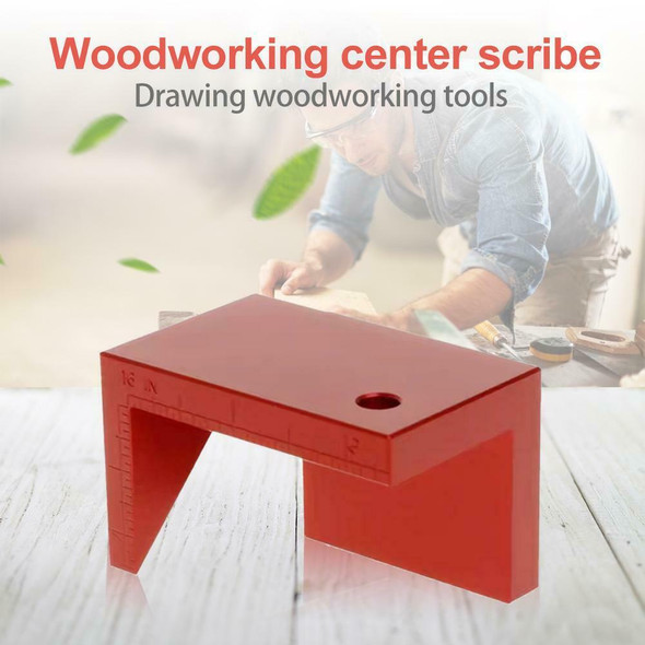 Woodworking 45 Degree Angle Ruler Line Drawing Round Center Line Scribe Gauge