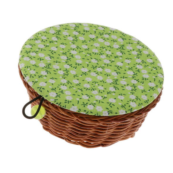 Portable Sewing Kit with Flower Parrten Basket Random Color Sewing Supplies