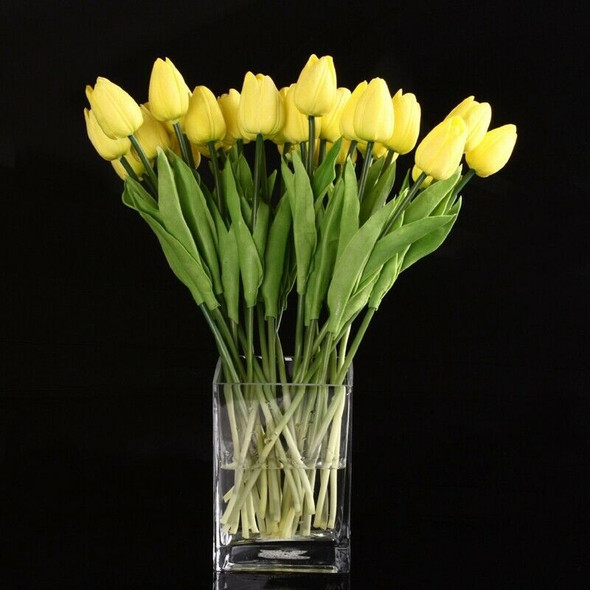 20pcs Tulip Flower Latex Real Touch For Wedding Decor Flower Best Quality K E6S7