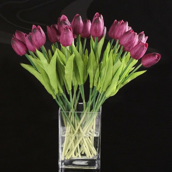 Tulip Flower Latex Real Touch For Wedding Bouquet Decor Best Quality KC455  E6N8