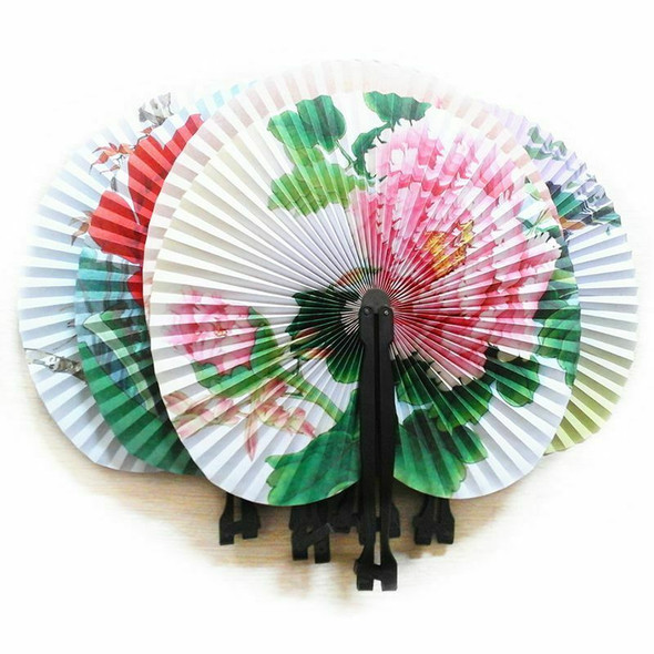 24X Folding Paper Fans - Pretty Chinese Designs - Girls Party P5N1