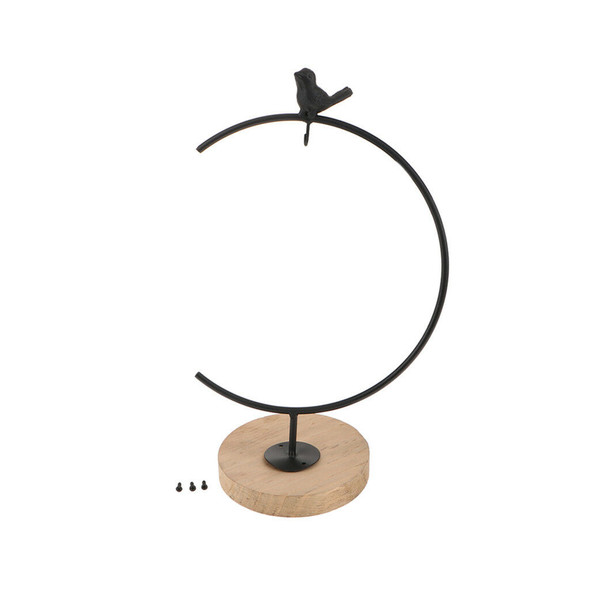 Hanging Stand with Wood Base for Christmas Ornament Wedding Decoration_L
