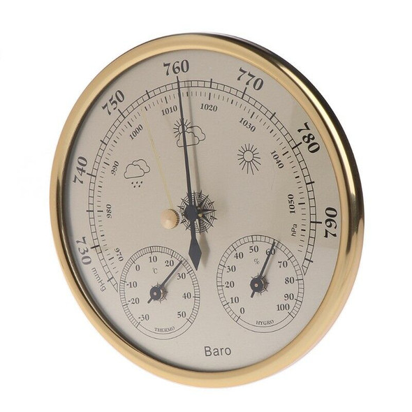 3in1 Wall Mounted 130mm Barometer Thermometer Hygrometer Weather Station Hanging