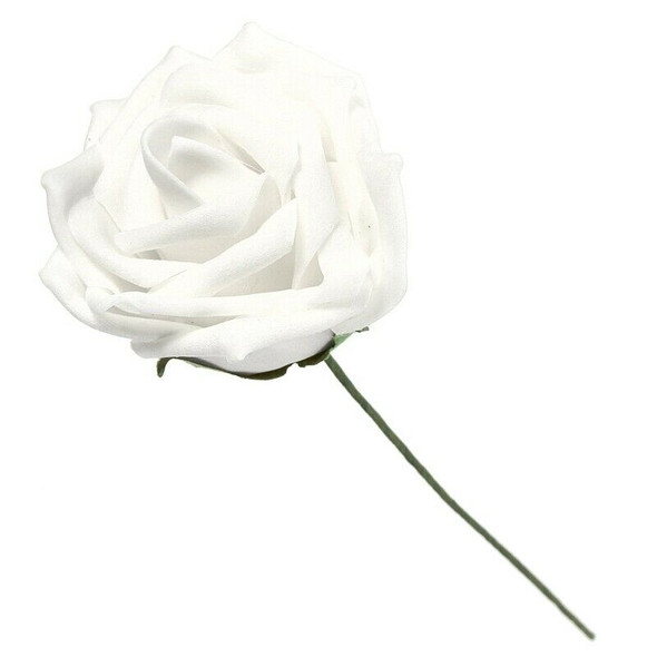 50pcs Artificial Rose Flower Bouquet Wedding Foam Sheet DIY Wedding Bride Z4F1