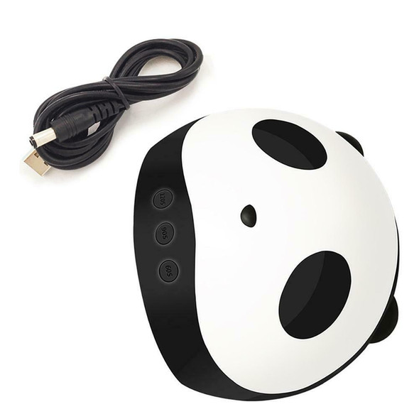 36W Cute Panda UV LED Nail Lamp Dryer 3 Timers Manicure Gel Polish Drying Light