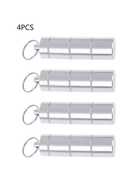 4Pcs Portable Keychain Case Waterproof Pill Holder Container Box Newest Useful