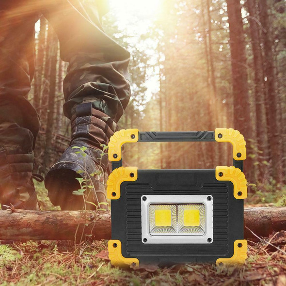 20W Rechargeable LED COB Work Light Camping Security Floodlight Emergency Lamp J