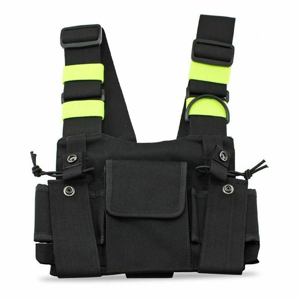 Radios Pocket Radio Chest Harness Chest Front Pack Pouch Holster Vest Rig C B4Z5