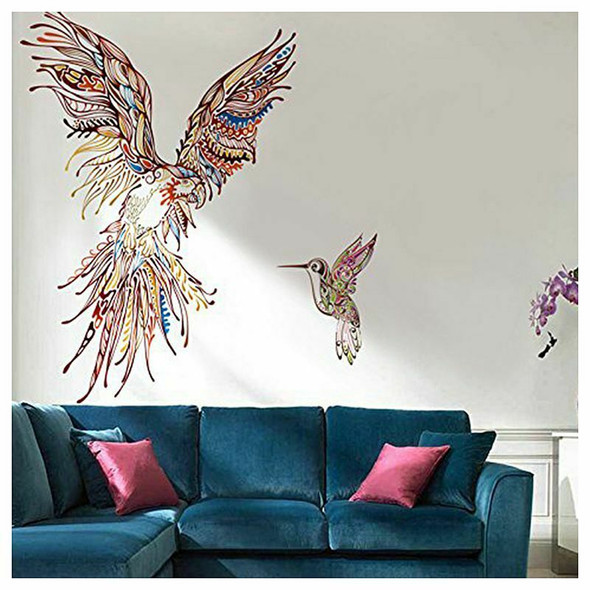 Large Parrot Transparent Removable Wall Stickers Home Decor For Living Room Q8L3