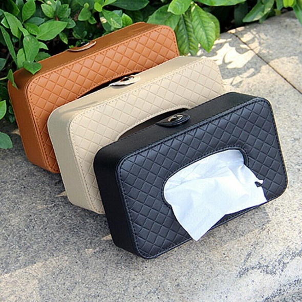 Car Tissue Box visor type PU leather car tissue box napkin holder car tissu D2A1