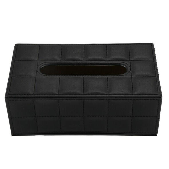 Durable Home Car Rectangle PU Leather Tissue Box Paper Holder Case Cover Na G4T6