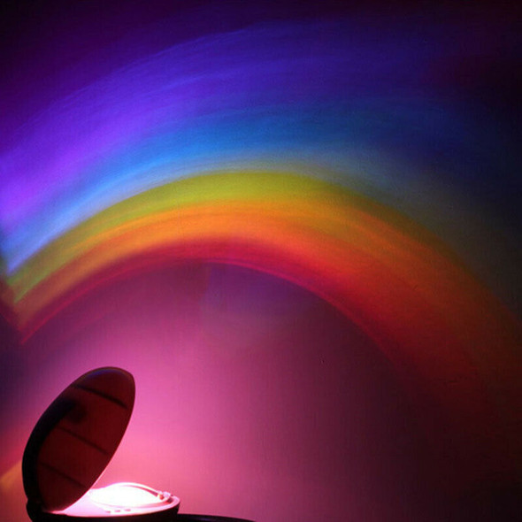 3 Modes LED Colorful Rainbow Night Light Romantic Magic Rainbow Projection LE9Q9