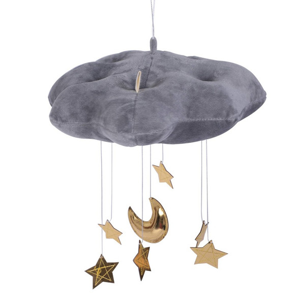 Lovely Baby Mobile Cotton Moon And Star Tent Wall Hanging Decor Toys Photo  S7L1