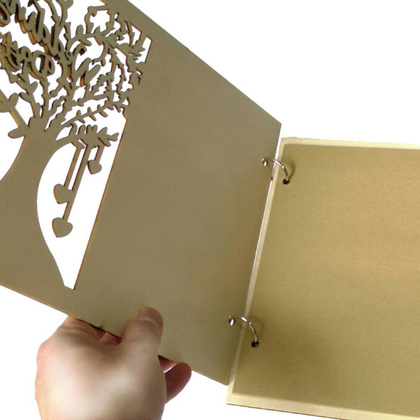 Wooden Wedding GuestBook Happiness Tree Guest Book Wedding Gift for Couples NT3C