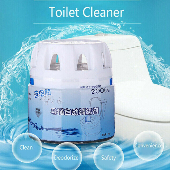 Automatic Toilet Cleaner Magic Flush Bottled Helper Blue Bubble Amazing Hom F7J4