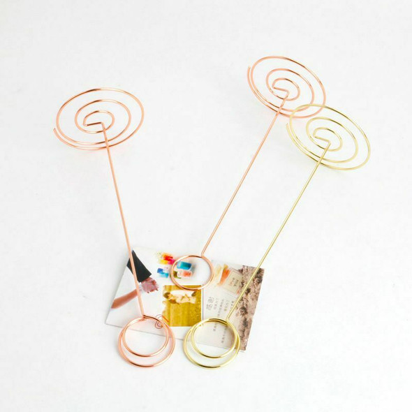 Wire Shape Place Card Holder Stands, Table Name Number Holders, Paper Menu  T5L5